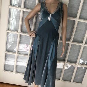Papell Boutique Vintage velvet/silk cocktail dress